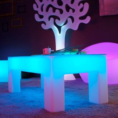Mesa de centro iluminada por LED multicolor - CLASSICO