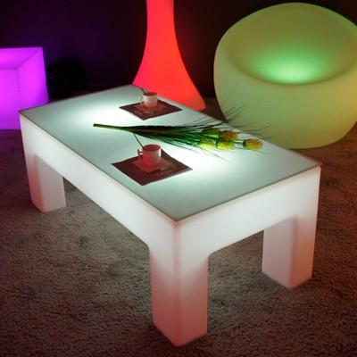 Mehrfarbiger LED-beleuchteter Couchtisch - CLASSICO