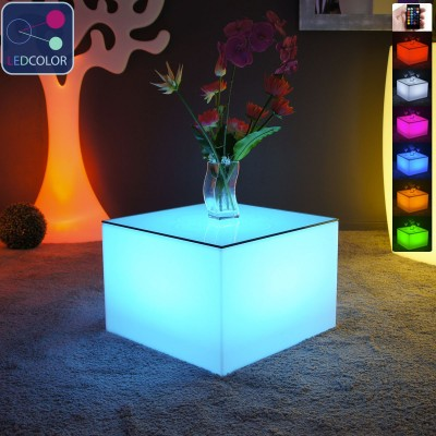 Table Basse Lumineuse à LED Multicolore - Nelio