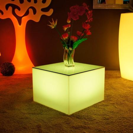 Mesa de centro iluminada por LED multicolor - Nelio