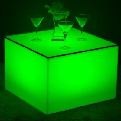 Mehrfarbiger LED beleuchteter Couchtisch - Nelio