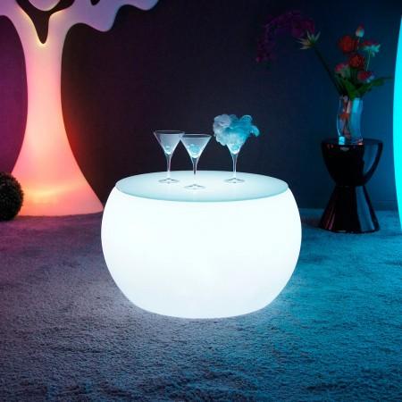 Mehrfarbiger LED beleuchteter Couchtisch - RUND