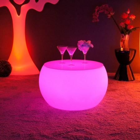 Tavolino illuminato a LED multicolore - ROTONDO