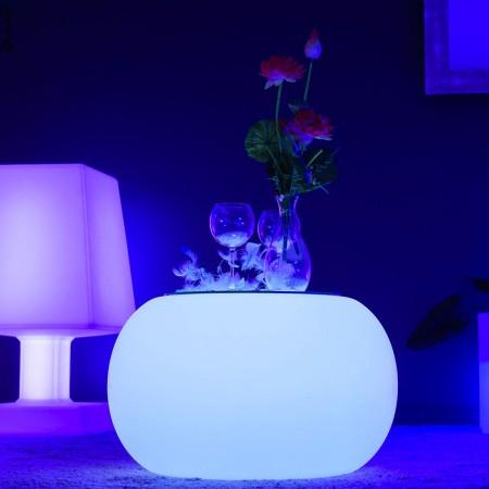 Mesa de centro iluminada por LED multicolor - ROUND S