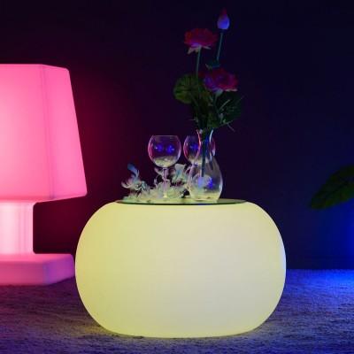 Mehrfarbiger LED beleuchteter Couchtisch - RUNDE S.