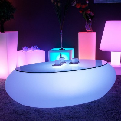 Table Basse Lumineuse à LED Multicolore - STONE