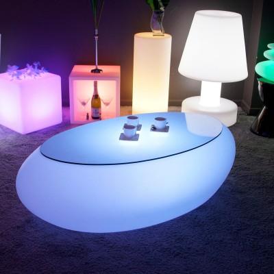 Tavolino illuminato a LED multicolore - STONE