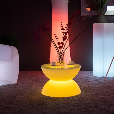 Tavolino luminoso a LED multicolore - FULL MOON