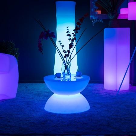 Table basse lumineuse LED Multicolore - FULL MOON