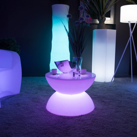 table basse lumineuse led multicolore full moon prix usine by livedeco livraison express. Black Bedroom Furniture Sets. Home Design Ideas