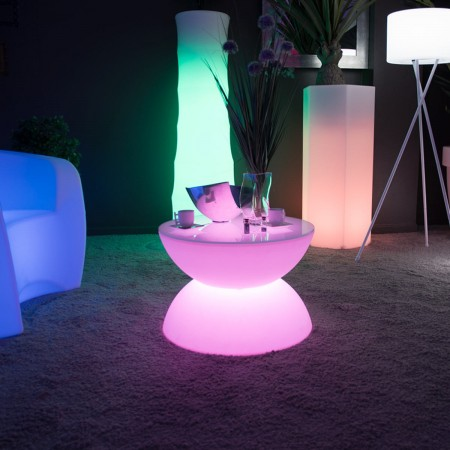 Mesa de centro con luz LED multicolor - FULL MOON