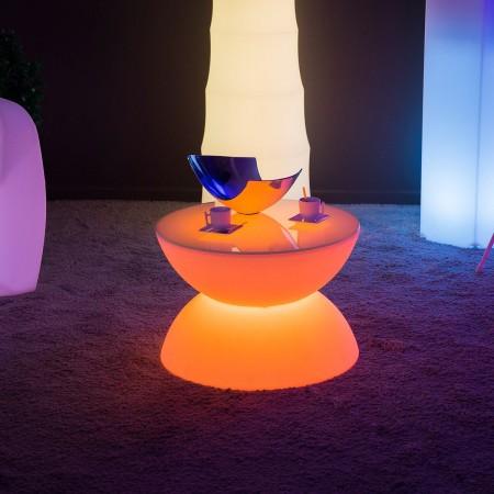 Mehrfarbiger LED-Licht Couchtisch - VOLLMOND