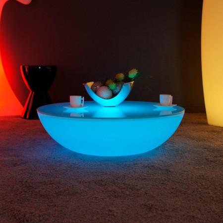 Tavolino luminoso a LED multicolore - MOON LIGHT