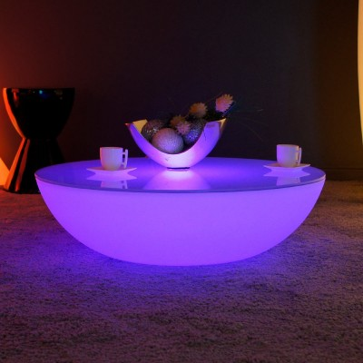 Mesa de centro con luz LED multicolor - MOON LIGHT