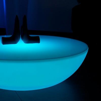 Mehrfarbiger LED-Licht-Couchtisch - MONDLICHT