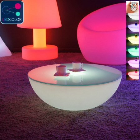 table basse lumineuse led multicolore moon light s prix usine by livedeco livraison express. Black Bedroom Furniture Sets. Home Design Ideas