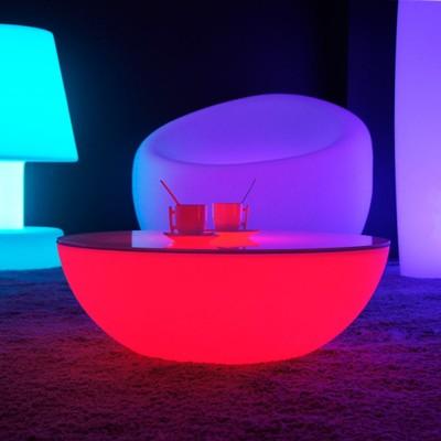 Tavolino luminoso a LED multicolore - MOON LIGHT S