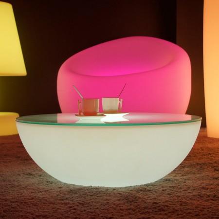 Mesa de centro con luz LED multicolor - MOON LIGHT S