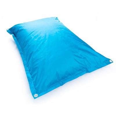Puf gigante azul turquesa para exterior BiG52 IRON RAW