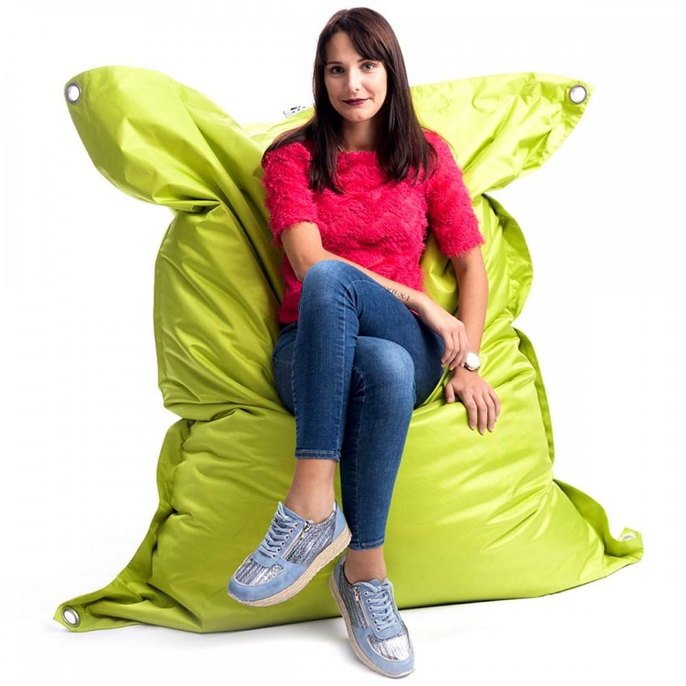 Riesiger lindgrüner Outdoor-Sitzsack BiG52 IRON RAW