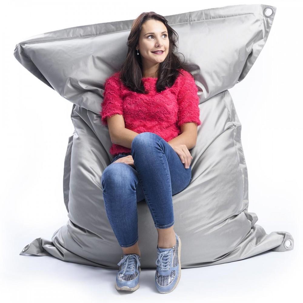 pouf g ant ext rieur outdoor iron raw gris 75 pouf xxl. Black Bedroom Furniture Sets. Home Design Ideas