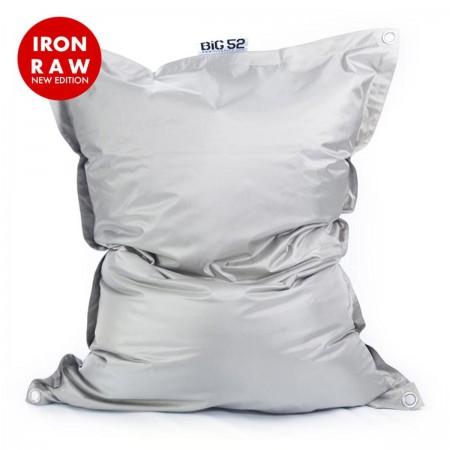 Puf gigante gris para exterior BiG52 IRON RAW