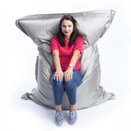 Riesiger grauer Sitzsack im Freien BiG52 IRON RAW
