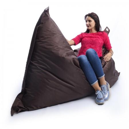 Puf gigante Outdoor Chocolate Brown BiG52 IRON RAW
