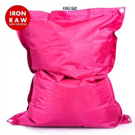 Puf gigante de exterior Rosa BiG52 IRON RAW