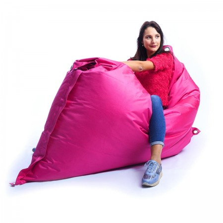 Riesiger Sitzsack im Freien Pink BiG52 IRON RAW