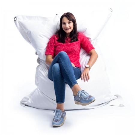 Riesen Sitzsack Outdoor Weiß BiG52 IRON RAW