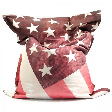 Puf gigante BiG52 VINTAGE USA Bandera de EE. UU.