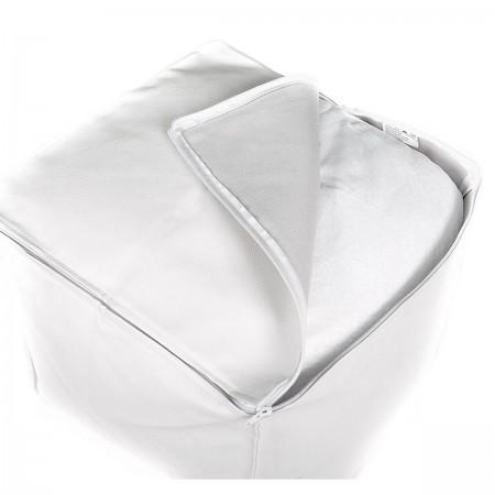Cube Pouffe BiG52 - Weißes Kunstleder