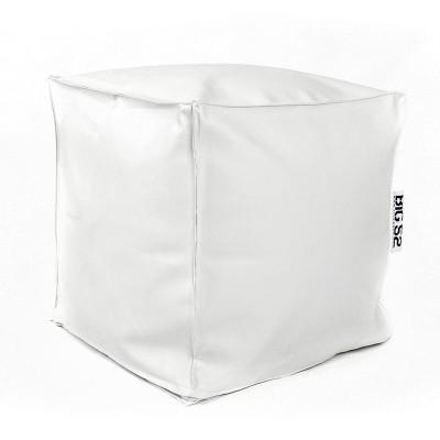 Pouf Cube BiG52 - Simili Cuir Blanc