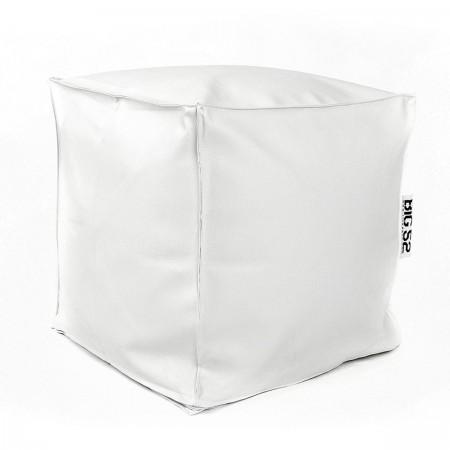 Pouf Cube BiG52 - Ecopelle Bianca
