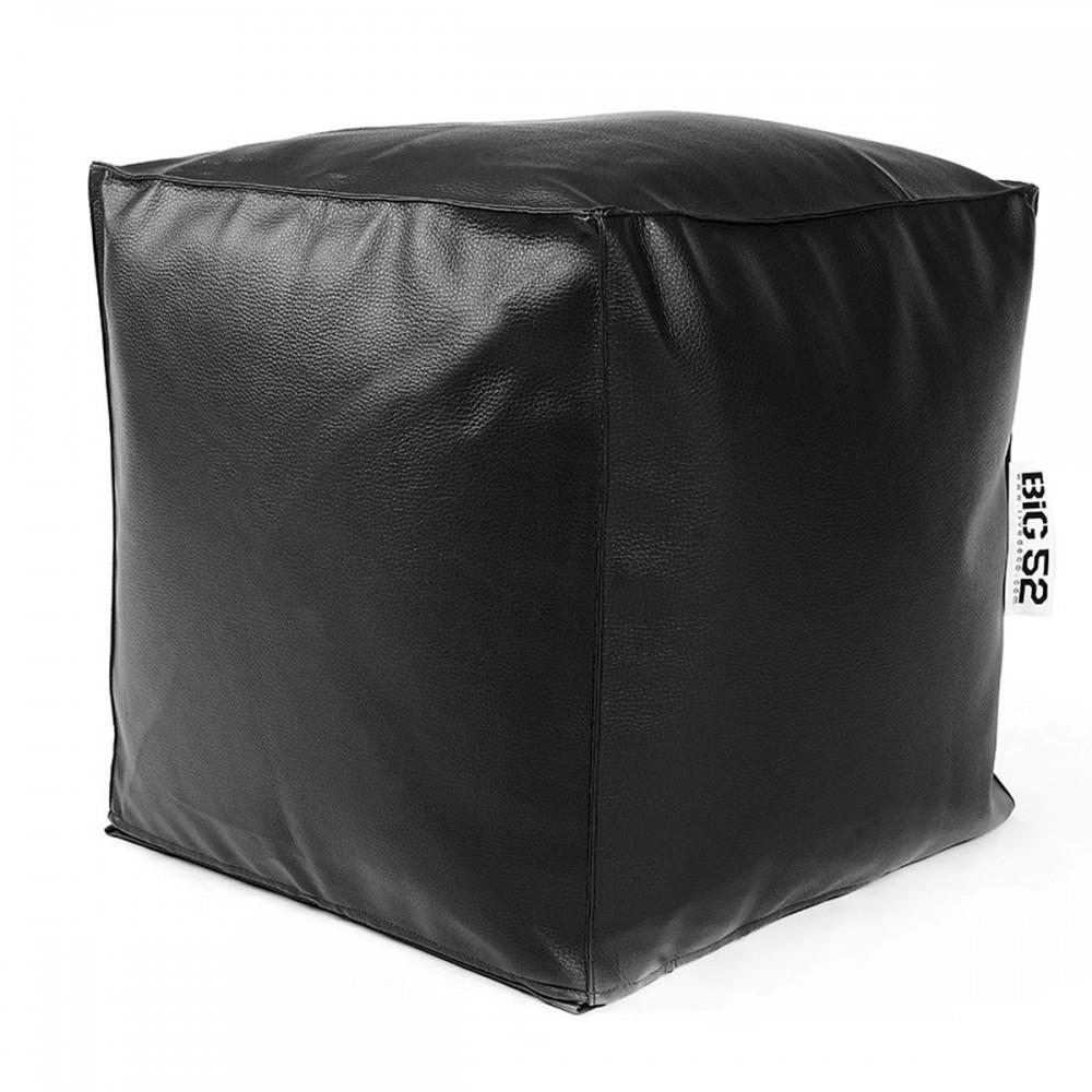 Cube Pouffe BiG52 - Schwarzes Kunstleder