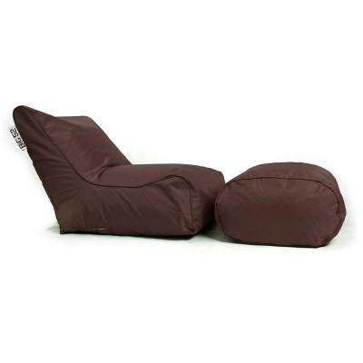 BiG52 Schokoladenhocker Sessel mit Fußstütze