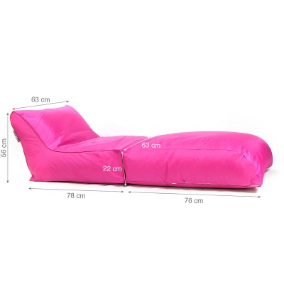 Puf tumbona BiG52 rosa