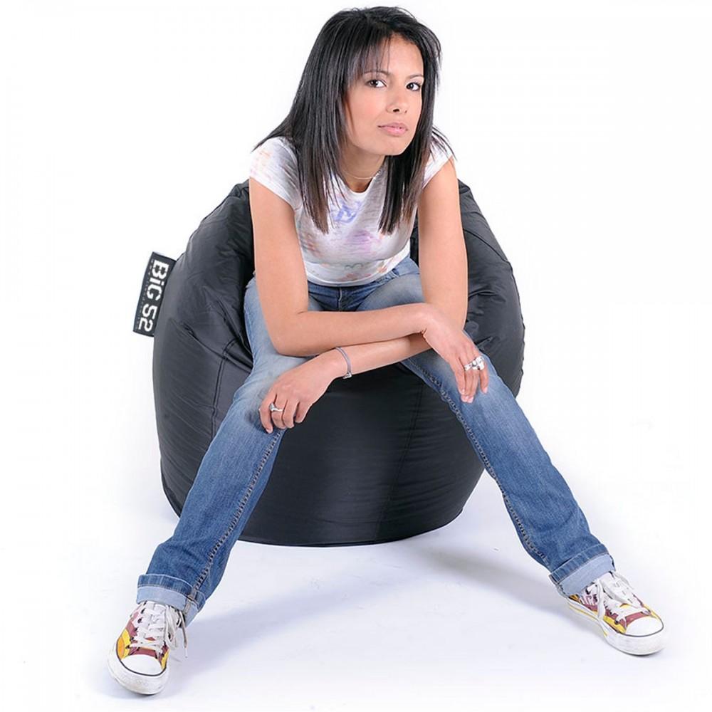Sitzsack Birne Siebziger Schwarz