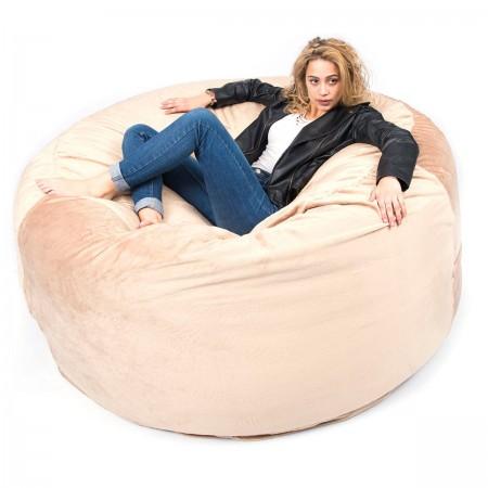 Riesen Sitzsack XXXL BiG52 TiTAN - Beige Fleece
