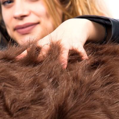 Riesensitzsack XXXL BiG52 TiTAN - Braunes Fell