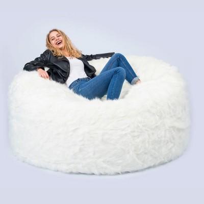 Riesensitzsack XXXL BiG52 TiTAN - Weißes Fell