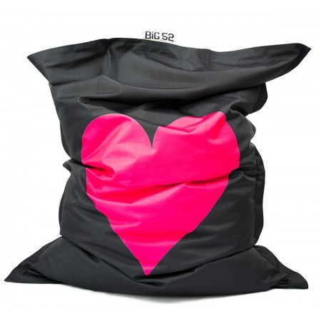 Riesiger Hocker BiG52 Rosa Herz