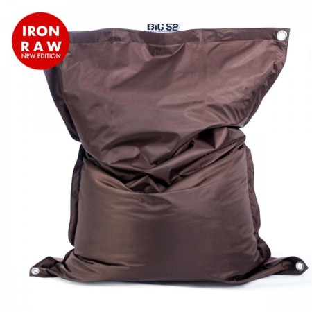 Riesige Hockerhülle BiG52 IRON RAW Chocolate