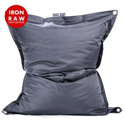 Copri pouf gigante BiG52 IRON RAW Grigio antracite Grafite