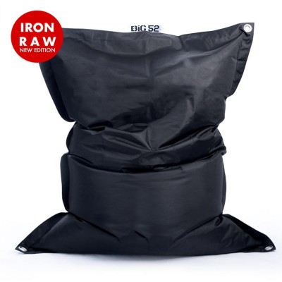Copri pouf gigante BiG52 IRON RAW Nero