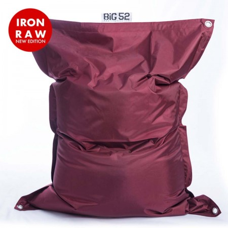 Riesige Hockerabdeckung BiG52 IRON RAW Plum