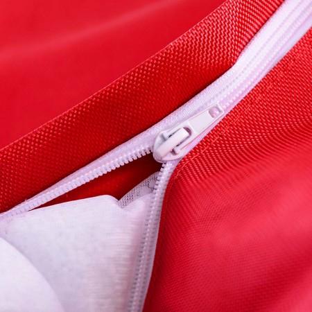 Riesige Hockerhülle BiG52 IRON RAW Red
