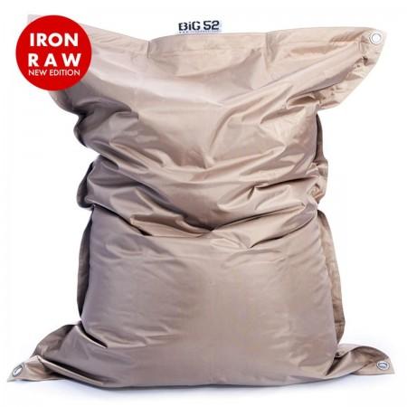 Riesige Hockerhülle BiG52 IRON RAW Sand Beige