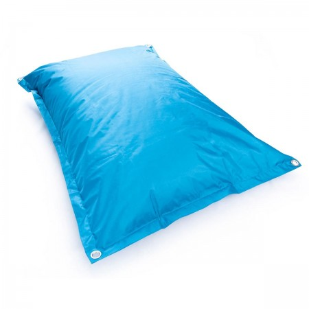 Housse pouf géant BiG52 IRON RAW Bleu Turquoise